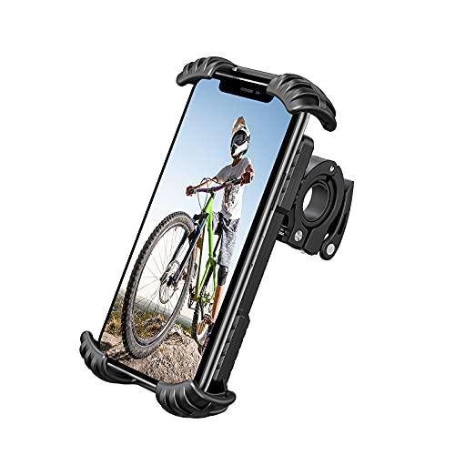 Riapow Soporte Movil Bicicleta Soporte Movil Moto Universal 360° Rotación Anti Vibración Porta Telefono Motocicleta Montaña Soporte para iPhone Samsung LG y 4.9-6.8' Móvil