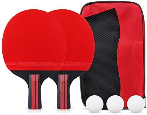 Find Bargain Pong Paddle Set Table Tennis Racket Set Professional Table Tennis Paddle Set 5 Layers o...