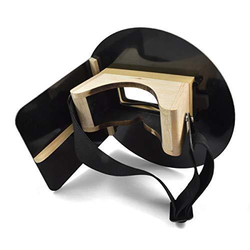 Wendy's Pancake Welding Hood Helmet w/Strap - Right Handed - BLACK