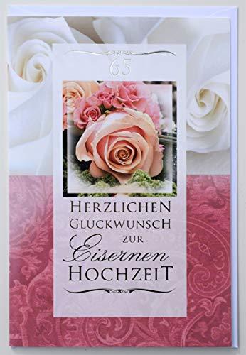 Glückwunschkarte Eiserne Hochzeit 65 Jahre Hochzeitstag