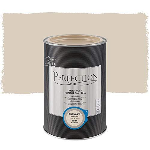 Pintura de pared interior monocapa, Perfection – Satin – 06 beige abedul, 1 L – 12 m2