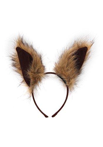 elope Deluxe Oversized Squirrel Ears Headband Brown