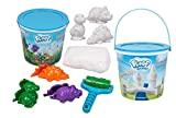 Play Visions Floof Modeling Clay - Reusable Indoor Snow - Dinosaur Maker Set - Includes 3 Dinosaur Molds & Dino Track Roller - 360 Grams Of Floof - Endless Creations Possible, Mold Any Shape Or Design
