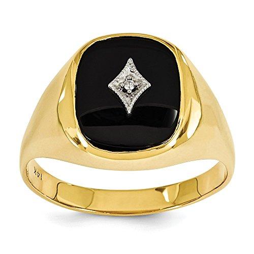 14ct anillo de diamantes en bruto - tamaño T 1/2 - JewelryWeb