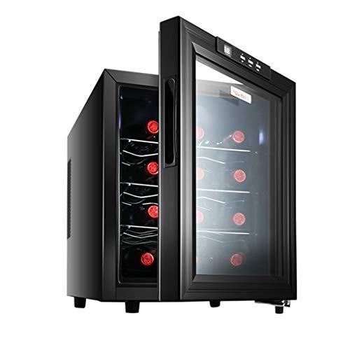 4 Capas Nevera para Vinos, Refrigerador De Vino 12 Botellas, Rango De Control De Temperatura 12 ℃ -18 ℃, Vinoteca Bajo Consumo De...