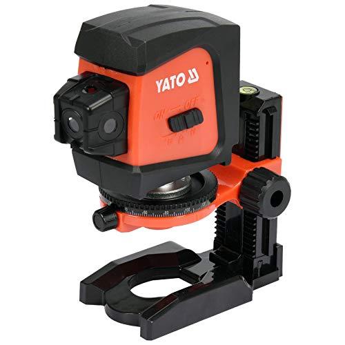 YATO professionele 5-punts laser | zelfnivellerend | met 5 punten | incl. Statief | Bereik tot 20 meter | 360 ° | Laser Baulaser