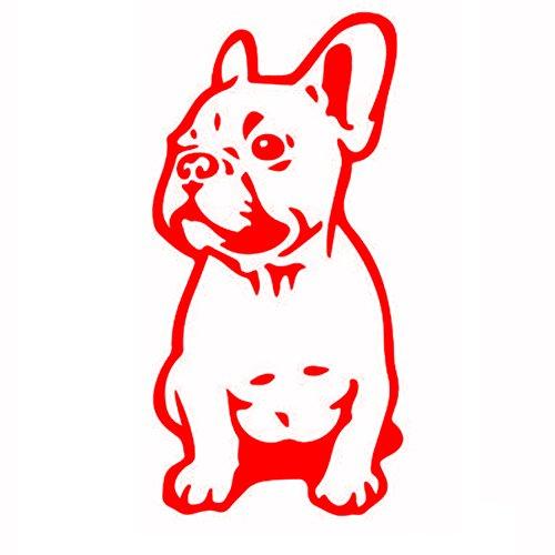 7.515.2CM FRENCH BULLDOG Dog Car Stickers Pet Breed Puppy Vinyl Decals Funny Animal Creative Cartoon Window Sticker Car Styling red