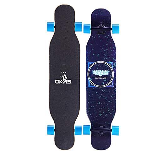 TYXTYX Longboard 107x26cm ABEC-11 PU Räder Skateboard Pintail Komplettes Premium Pro Cruiser Deck, 42 