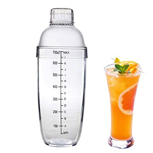 Breale 700ml Professionelle Kunststoff Cocktail Shaker Wein Getränke Mixer Wein Shaker Tasse Trinkmixer Martini Mixer Bar Werkzeuge mit Skala