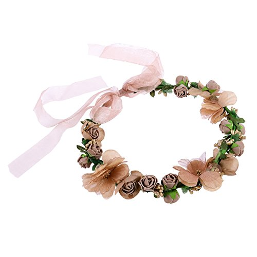 WINOMO Blumenkrone Stirnband Braut Brautjungfern Hochzeiten Party Festivals Crown Floral Kopf Kranz