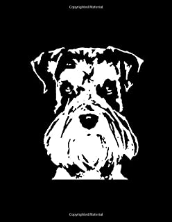 """Schnauzer Notebook: Black & White Pop Art Dog Face 150 Page 8.5 x 11"""" Lined Journal Book for Schnauzer Lovers and Owners"""