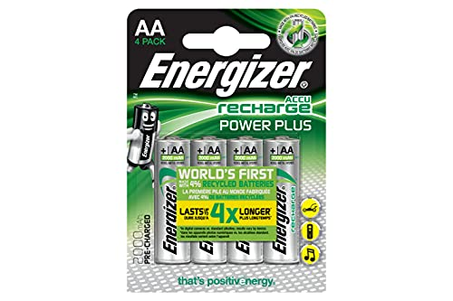 Energizer Power Plus AA - Pilas recargables, color plateado