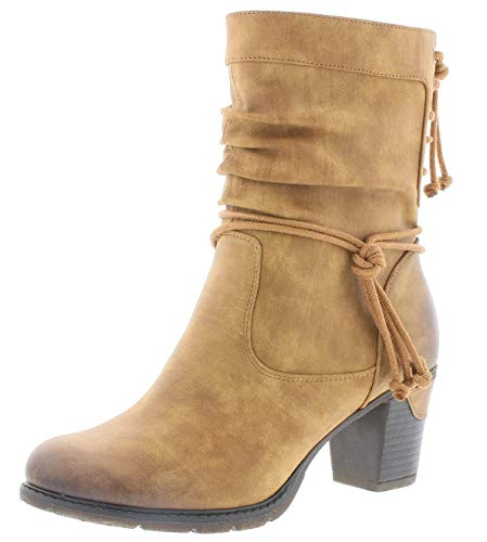 Rieker Damen Stiefeletten 96073, Frauen Stiefelette, Woman Freizeit leger Stiefel Boot halbstiefel übergangsschuh gefüttert,Noce,42 EU / 8 UK