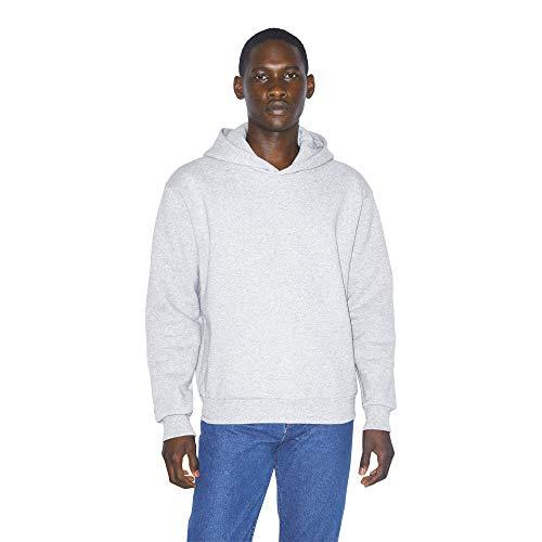 American Apparel Mens Mason Fleece Long Sleeve Pullover Hoodie Hooded Sweatshirt Heather Grey XXL