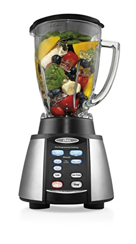 Oster Reverse Crush Counterforms Blender, with 6-Cup Glass Jar, 7-Speed...