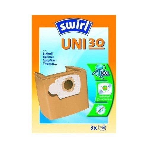 Swirl Staubsaugerbeutel SFB UNI30 / UNI 30 Papier für Kärcher, Einhell, Rowenta Staubsauger
