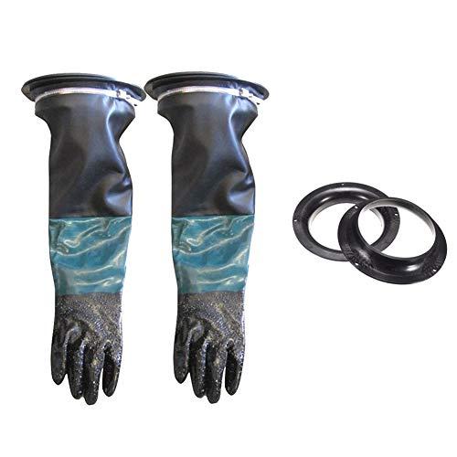 HiCollie 作業用 サンドブラスト手袋 サンドブラストキャビネット用 クランプ グローブホルダー 1セット