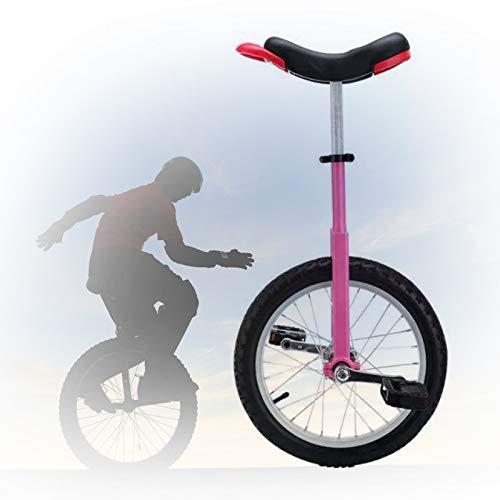 GAOYUY 16/18/20 Zoll Rad Einrad, Trainer Freestyle Einrad Verstellbarer Verlängerter Sitz Sicher Zu Benutzen Für Anfänger Kinder Erwachsene (Color : Pink, Size : 20 inch)