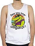 Sprüche Statement mit Spruch - See You Later Alligator! - schwarz - L - Weiß - Statement - BCTM072...