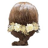 Lupine 髪飾り かすみ草 ゴールドホワイト あじさい ホワイト 白 5本セット ウエディング 結婚式 成人式 卒業式 プリザーブドフラワー 造花 花 アーティフィシャルフラワー