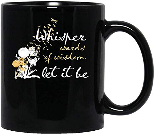 #let It Be #whisper Words Of Wisdom The #beatles Movie Film Mug With Handle, Insulated Ceramic Reusable Coffee Cup, Coffee Travel Mug