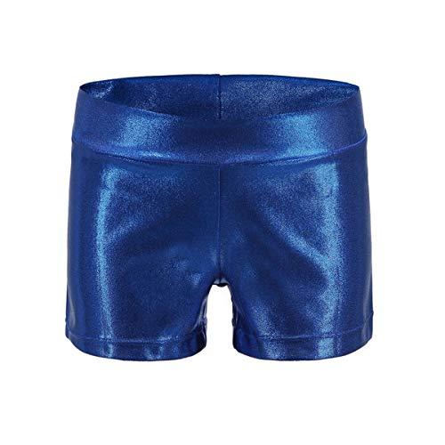 Girls Dance Short Gymnastics Athletic Shorts Sparkle Glitter Tumbling...