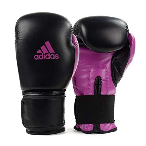 Luva de Boxe Muay Thai Adidas Power 100 Colors Preto/Rosa (14oz)