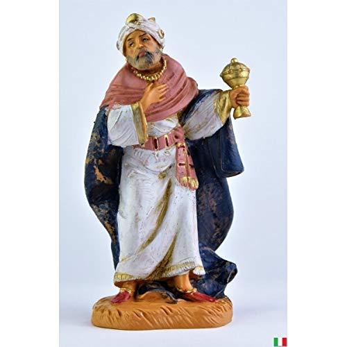 Fontanini Rey Magio Mulatto de pies con incienso, 12 cm