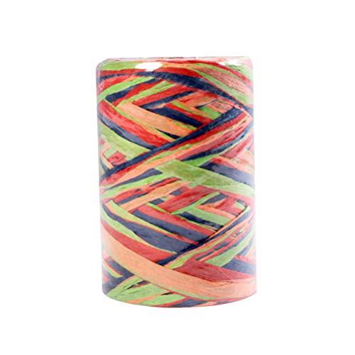 Healifty Nastro di Rafia Carta fai da te Regali imballaggio corda Colorata Rafia Spago Abbellimento per feste