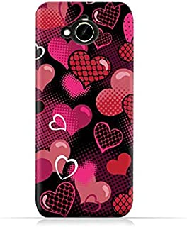 HTC Desire 10 Compact TPU Silicone Protective Case with Valentine Hearts Seamless Pattern