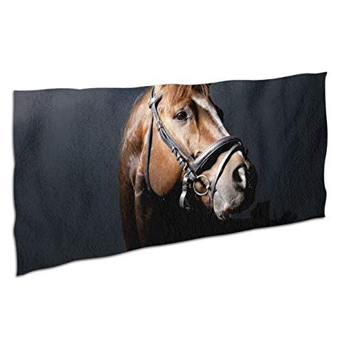 WDS6DF Hermoso caballo adulto niño gran tamaño toalla de baño blanca absorbente de lujo y secado rápido toalla