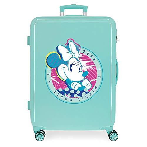 Disney Mickey That's Easy Middelgrote koffer, groen, 48 x 68 x 26 cm, ABS, zijdelingse cijfercombinatiesluiting 70 l, 2…