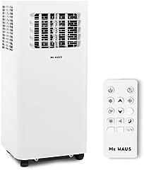 Mc Haus ARTIC-16 - Aire acondicionado portátil 7000BTU pingüino clase A ecológico, 3 en 1: refrigeración, ventilación y deshumificador, mando a distancia, hasta 20m2, color blanco
