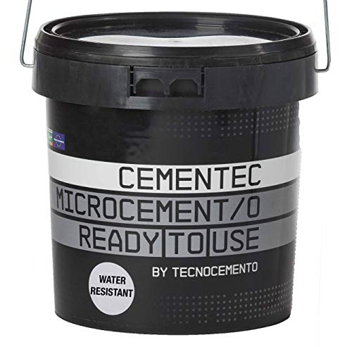 CEMENTEC Microcemento listo al uso WATER RESISTANT Ready to use (5 kg, Blanco)