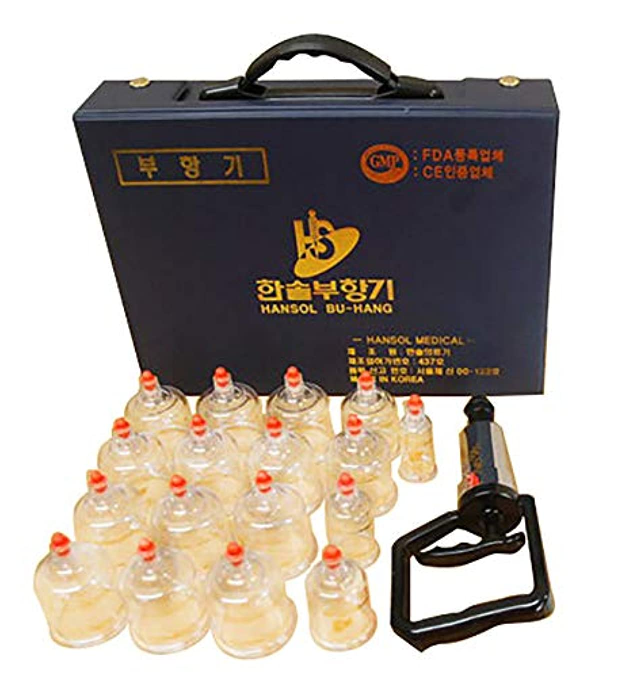 フラフープグラフ有名中国四千年の健康法「吸玉」がご家庭で手軽にできる!ハンソルメディカル ブハン カッピングカップ17個セット