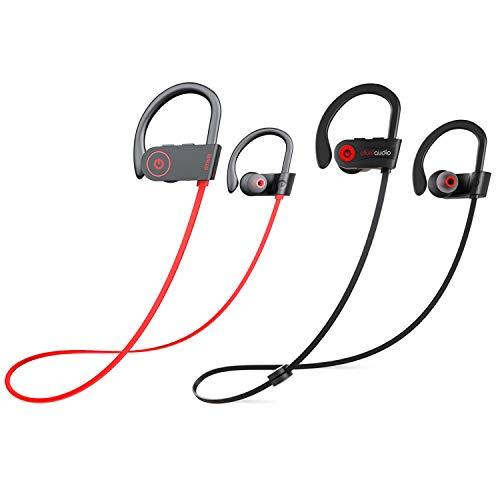 Otium Bluetooth Headphones, Best Wireless Earbuds IPX7 Waterproof Sports Earphones w/Mic HD Stereo Sweatproof in-Ear Earbuds Gym Running Workout 8 Hour Battery Noise Cancelling Headsets