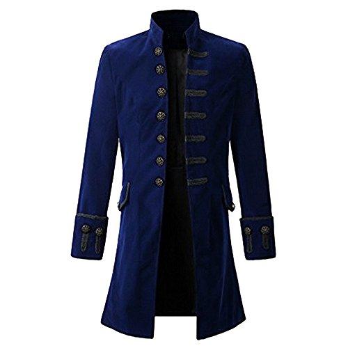 Veste Officier /à col Mao et Manches Longues orn/ées de 3 Boutons dor/és La Modeuse