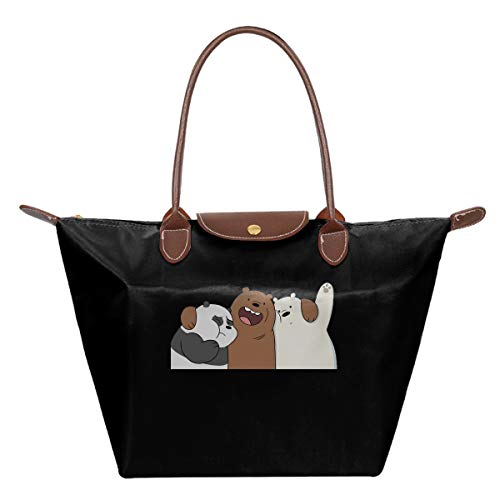 We Bare Bears Fashion Ladies Folding Dumpling Bags Holds Key Shopping Parties For Every OccasionBlack