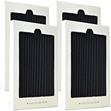 Carbon Activated Refrigerator Air Filter Replacement Compatible with Frigidaire and Electrolux 242047801, 242047804, 242061001 (4 Pack)