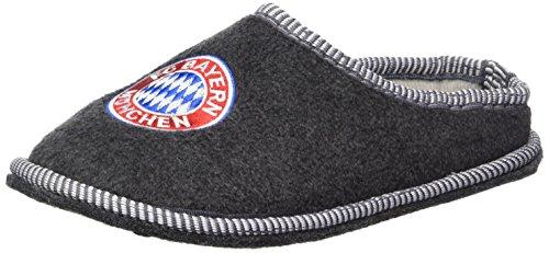 FCB Bayern München kompatibel Hausschuhe + Sticker, Pantoffeln/Filzpantoffeln mit aufgesticktem Vereinswappen (33)