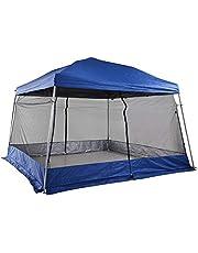 Outsunny Carpas para Exterior Plegable para Jardín o Camping Cenador para Exterior con Mosquitera 360x360x260cm Azul