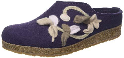 HAFLINGER Venus, Pantofole Donna, Viola (Lavendel 90), 41 EU