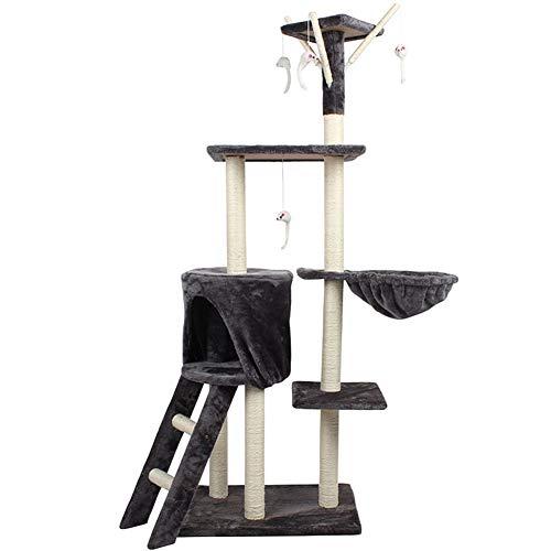 GYH Perreras Pet House-Cat Tree Condo Tower con rasguños, Play House Kitten Furniture Activity Centre (#)