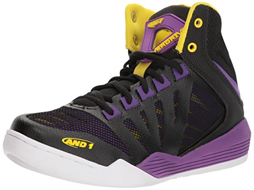 AND1 Damen Overdrive, Schwarz/Amaranth Violett/Vibrant Yellow, 37 EU