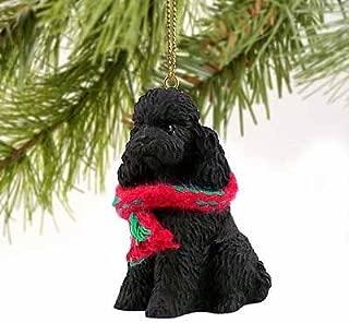 Poodle Sportcut Miniature Dog Ornament - Black
