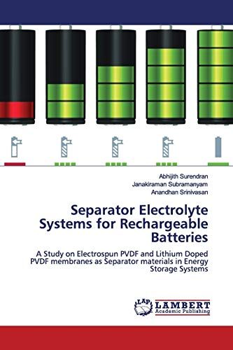 Separator Electrolyte Systems for Rechargeable Batteries: A Study on Electrospun PVDF and Lithium Doped PVDF membranes as Separator materials in Energy Storage Systems