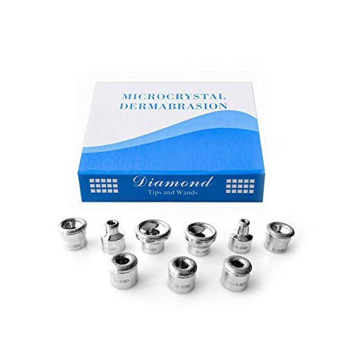 Diamond Dermabrasion Head Microdermabrasion Exfoliator Home Facial Dermabrasion Tool Dermabrasion Replacements 9Tips