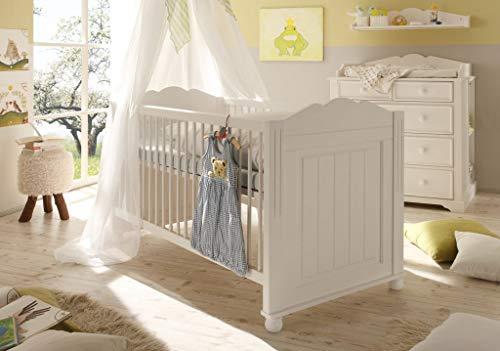 Froschkönig24 Cinderella Premium Kinderbett/Babybett Weiß lackiert
