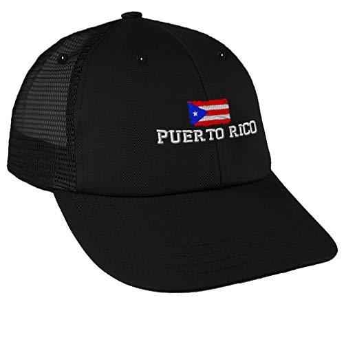 Trucker Hat Baseball Cap Puerto Rican Flag Rico Embroidery Dad for Men & Women