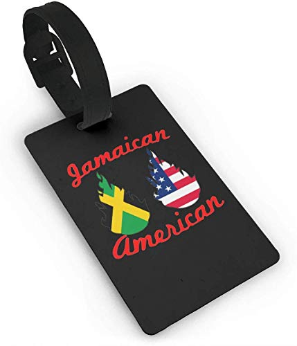 Jamaika USA Flagge Feuer Lage Tag Kreuzfahrt Reise ID Tags PVC Für Taschen Koffer